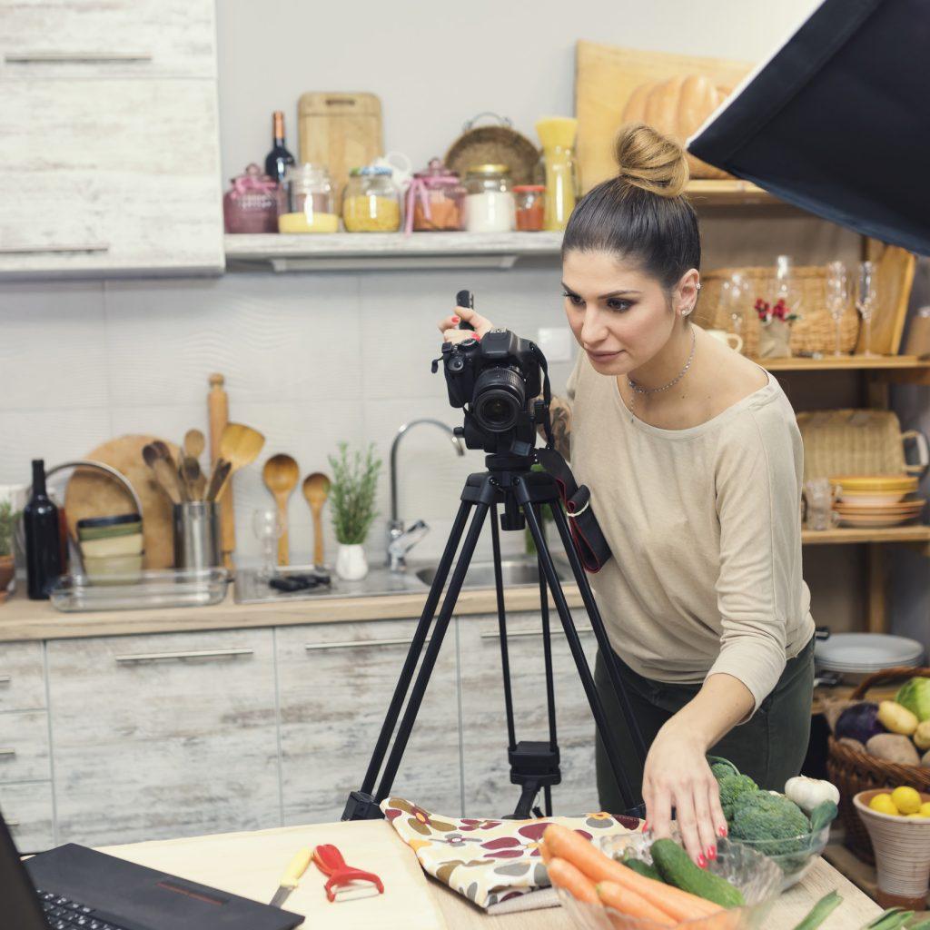 Vlogging in kitchen