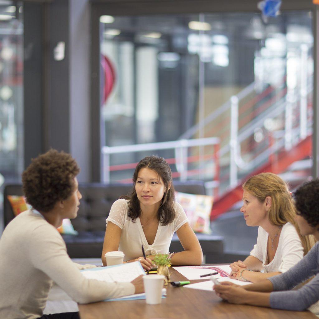 Informal meeting in an advertising agency